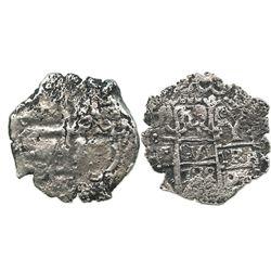 Potosi, Bolivia, cob 4 reales, 1722Y.