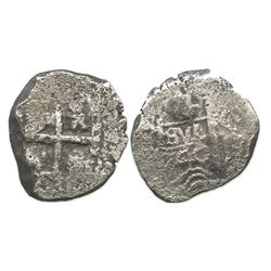 Potosi, Bolivia, cob 4 reales, 1740(M or P).