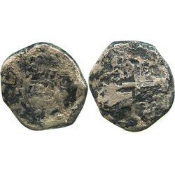 Lima, Peru, cob 8 reales, 1744(V), rare.