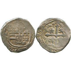 Mexico City, Mexico, cob 8 reales, 1613F.