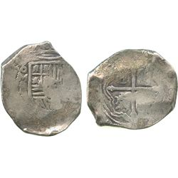 Mexico City, Mexico, cob 8 reales, (16)5/4(?)P, ex-Tunis hoard.