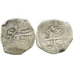 Mexico, cob 2 reales, (16)55(P), rare.
