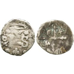 Mexico City, Mexico, cob 1/2 real, Philip IV, assayer P.