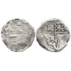Potosi, Bolivia, cob 8 reales, (16)33T.