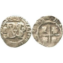 Potosi, Bolivia, cob 1/2 real, Philip II, assayer B to left (5th period), P to right, borders of x's