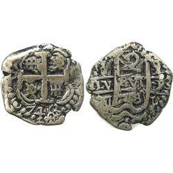 Potosi, Bolivia, cob 2 reales, 1748q.
