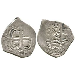 Potosi, Bolivia, cob 1 real, 1662E.