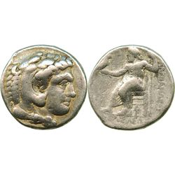 Kings of Macedon, AR tetradrachm, Alexander III (the Great), 336-323 BC, Arados mint, struck circa 3