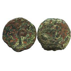 Ancient Judaea, AE prutah, Pontius Pilate as Roman prefect under Tiberius (26-36 AD, probably year 1
