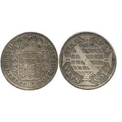 Brazil (struck in Lisbon), 640 reis, 1771, SUBQ in legend.