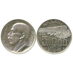 Brazil, 5000 reis, 1936, Santos Dumont commemorative.