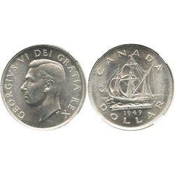 Canada, 1 dollar, George VI, 1949, encapsulated NGC MS 65.
