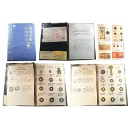 Representative collection of Chinese bronze coins and paper money (21st century BC to 1940s) in orig