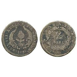 Popayan, Colombia, 1/2 real, 1838RU.