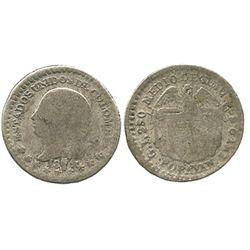 Popayan, Colombia, 1/2 decimo, 1874/74.