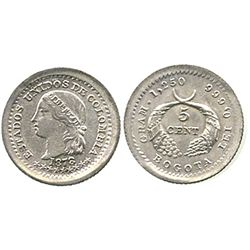 Bogota, Colombia, 5 centavos, 1878.