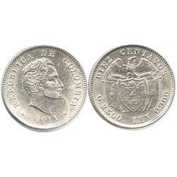 Bogota, Colombia, 10 centavos, 1911.