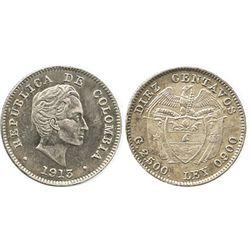 Bogota, Colombia, 10 centavos, 1913.