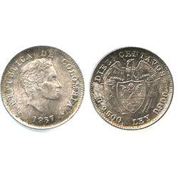 Bogota, Colombia, 10 centavos, 1937.