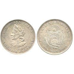 El Salvador, 1 peso, 1908CAM.