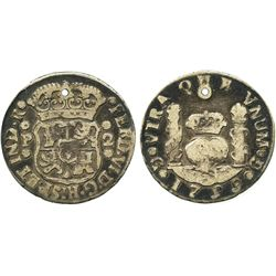 Guatemala, pillar 2 reales, Ferdinand VI, 1759P.