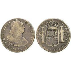 Guatemala, bust 4 reales, Charles IV, 1804M.