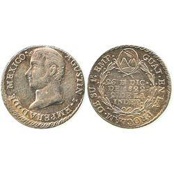 Guatemala, 1 real proclamation, 1822, Agustin I.