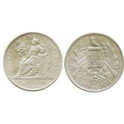 Guatemala, 1 peso, 1894.