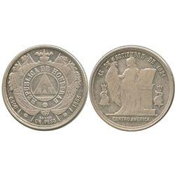 Honduras, 1 peso, 1885/4.