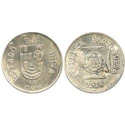 India (Portuguese), 1/2 rupia, 1936.