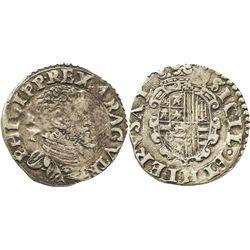 Naples (Italian States), 1 tari, Philip II.