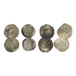 Lot of 4 Venice (Italian States), grossos, ca. 1250-1350 AD.
