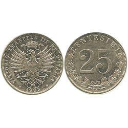 Italy (kingdom), nickel 25 centesimi, Vittorio Emanuele III, 1903R.