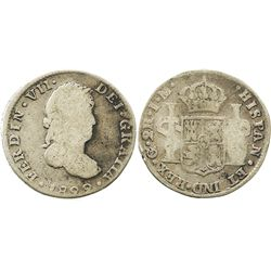 Guanajuato, Mexico, bust 2 reales, Ferdinand VII, 1822JM.