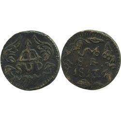 Oaxaca (SUD/Morelos), Mexico, copper 8 reales, 1813.