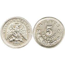 Mexico City, Mexico, 5 centavos, 1875B.