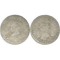 Oaxaca, Mexico, 2 pesos, 1915.