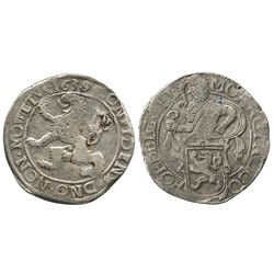 """Gelderland, United Netherlands, """"lion"""" daalder, 1639."""