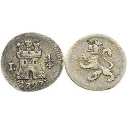 Lima, Peru, 1/4 real, 1797.
