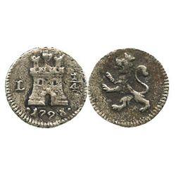 Lima, Peru, 1/4 real, 1798.
