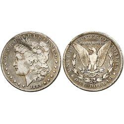 USA (Carson City mint), $1 Morgan, 1889-CC, key date.