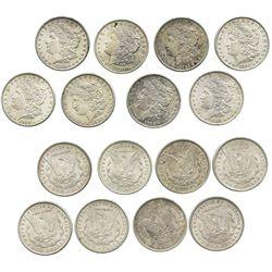 Lot of 8 USA $1 Morgan, as follows: 1881, 1882-O (2), 1896, 1900 (2) and 1921 (2).