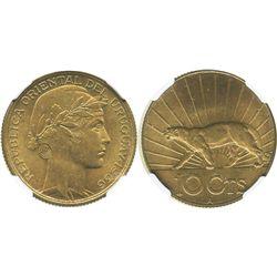 Uruguay (struck in Paris), aluminum-bronze 10 centesimos, 1936-A, encapsulated NGC MS 64.