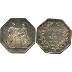 France, silver jeton for Banque de France, AN VIII (year 1800).