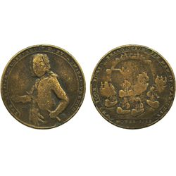 Great Britain, brass Admiral Vernon medal, Portobelo, 1739.