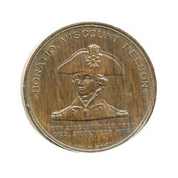 Great Britain, copper medal made from copper salvaged from the Foudroyant (1897), flagship of Lord N