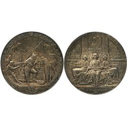 USA, silver medal struck by the American Numismatic Society in 1909 to commemorate the discovery of