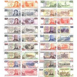 Lot of 18 Argentina banknotes from the 1970s-80s in Crisp Uncirculated condition.