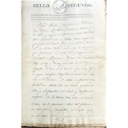 Large lot of 19 Mexican Republic handwritten documents dated 1828-1865.