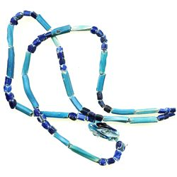 Necklace of dozens of blue glass beads from a late-1500s Spanish colonial site in the Southern Carib